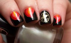 Hunger Games inspired nail art