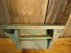 Painted Pine Shelf  1890Quebec