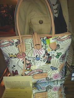 Dooney Bourke Handbag Purse DISNEY PARKS White Mickey Colette Tote NWT NEW Auction! $175