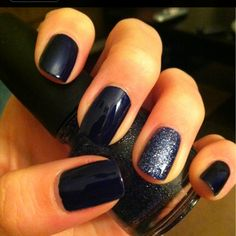 My BFF got me these China Glaze's: Up All Night is a navy blue & Skyscraper is a magnificent glitter....isn't she a beauty?