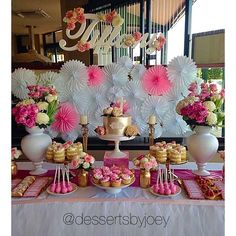 Tiffany's Christening!  #Cupcakes & #MiniNakedCakes by us @dessertsbyjoey | #CakePops by @yummiliciouscakepops | Signage & #Styling by @foamtasticpartydecor | Cake by @prettyparties | Floral arrangements by @danielle_louise_kelly  Thankyou for allowing us to be apart of your princess' special day @designeravenue xx