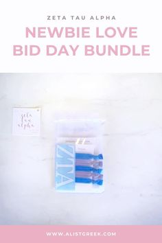 Spoil your new members this recruitment with the Newbie Love bundle! Gift bag includes a sorority decal, hair tie set, and button set. Zeta Tau Alpha Gifts | Zeta Tau Alpha Bid Day | ZTA New Member Gifts | Zeta Rush Gift Bags | Zeta Tau Alpha Recruitment | Sorority Bid Day | Sorority Recruitment | Bid Day Bags | Sorority New Member Gift Ideas #BidDayGifts #SororityRecruitment