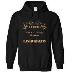 Illinois from Massachusetts T Shirt, Hoodie, Sweatshirt