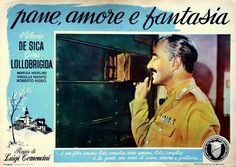 "Vittorio De Sica. Lobby card for Luigi Comencini's ""Pane, amore e fantasia"" (English title: ""Bread, Love and Dreams"", 1953)."
