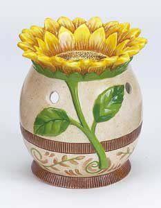 Tuscan Sunflower Ceramic Tart Warmer