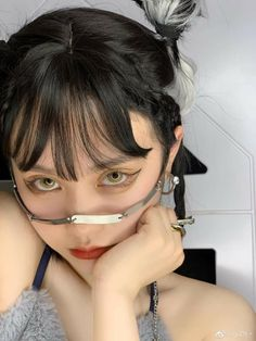 Ulzzang Korean Girl, Cute Korean Girl, Aesthetic Eyes, Aesthetic Photo, Japanese Hairstyle, Uzzlang Girl, Korean Makeup, Beautiful Person, Girl Photos