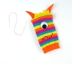 Got some extra socks laying around without a mate? Try this easy kids craft and make DIY sock monsters! Sock Monster, Monster Dolls, Hair Horn, Sock Animals, Colorful Socks, Upcycled Crafts, 3rd Birthday Parties, Easy Crafts For Kids, Craft Activities