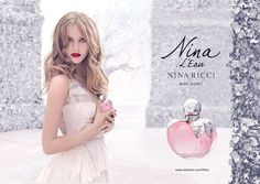 Nina L'Eau Nina Ricci / floral fruity / 2013 / Top notes: grapefruit, Green Apple, Mandarin, Neroli; heart notes: water notes, Cherry, Gardenia, Apple blossom; base note: Musk.