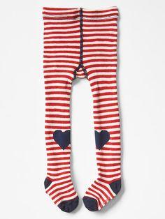 Stripe heart patch tights | Gap 12-24m