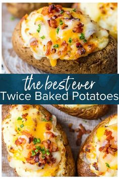 Frugal Food Items - How To Prepare Dinner And Luxuriate In Delightful Meals Without Having Shelling Out A Fortune This Is The Best Twice Baked Potatoes Recipe And I'm Going To Tell You Exactly How To Make It. This Creamy, Cheesy, Crispy Twice Baked Potato Double Baked Potatoes, Best Twice Baked Potatoes, Stuffed Baked Potatoes, Crack Potatoes, Twice Baked Potatoe Recipe, Loaded Baked Potatoes, Baked Potato Oven, Twice Baked Potato Casserole, Hot Potato Recipe