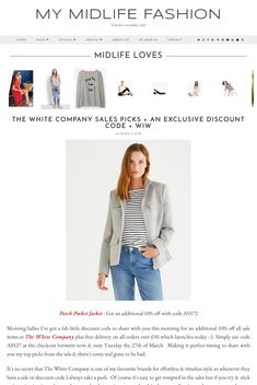 An exclusive additional 10% discount code off The White Company mid-season sale + my top picks #ootd #wiw #lotd #over40 #over40fashion #fashion #howtodresswhenyoureover40 #over40style #midlife #whattowear #howtostyle #style #stylingtips  #sale #discountcode #thewhitecompany #whattobuy #salesedit #timelessstyle