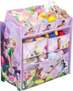 Amazon.com: Disney Fairies Multi-Bin Toy Organizer: Home & Kitchen