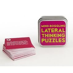 Lateral Thinking Puzzles Tin - From Lakeland £2.49