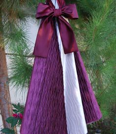 Burgundy and Silver High End Velvet Christmas Tree. Holidays by Refined Concepts on Etsy