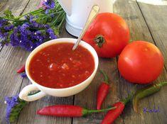 Kisildi: PARADICSOMLEKVÁR - VALÓDI LEKVÁR!!! Ketchup, Salsa, Vegetables, Ethnic Recipes, Food, Red Peppers, Essen, Vegetable Recipes, Salsa Music
