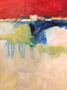 Contemporary Artists of Texas: Abstract Landscape by Texas Artist M.Allison