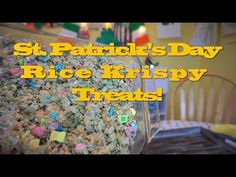 St. Patrick's Day Rice Krispy Treats - YouTube