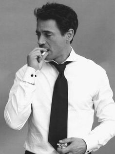 Robert Downey Jr--I think this is the one man I'd let kiss me even though he smokes haha