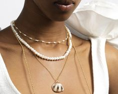Layered Pearl Necklace, Pearl Choker Necklace, Simple Necklace, Dainty Necklace, Minimalist Necklace, Fashion Necklace, Chokers, Pearls, Mermaid Tale