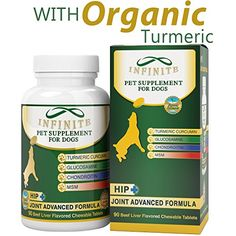 AllNatural Hip  Joint Supplement for Dogs  With Glucosamine Chondroitin MSM and Organic Turmeric  Supports Healthy Joints in Large  Small Canines  90 Chewable Treats * Visit the image link more details. Note:It is affiliate link to Amazon.