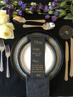 Another stunning design from The Chalk Spot is this dramatic black and gold look. We love how a touch of gothic wedding style can still look really pretty and feminine