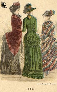 1883 Vintage Fashion, Women's Fashion, The Past, Painting, Clothes, Art, Outfits, Art Background, Kleding