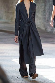 The Row | Vantin cotton-blend burlap wrap coat | NET-A-PORTER.COM