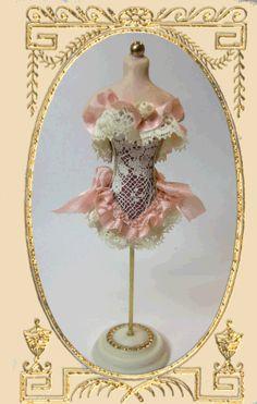 Victorian Corset Mannequin - www.cynthiahoweminiatures.com