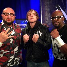 #DeanAmbrose and The #DudleyBoyz join forces to take on #TheNewDay (#KofiKingston @wwebige & @xavierwoodsphd)! #SmackDown