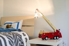 Pinterest Made Me Do It :: Firetruck Lamp - I'm so making one of these for Finn!!!