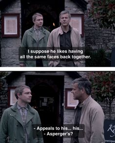 One really important scene in Sherlock that usually isn't heard at all! I personnaly didn't like John's sarcastic tone, is a bloody doctor for God sakes! And the fact that even if they know that Sherlock have heard them they never talk about it. :-(