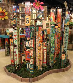 Art Poles Painted Peace