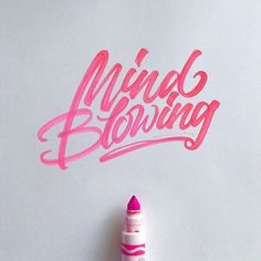 Lettering by David Milan. Mind Blowing #typography #lettering #design #beauty