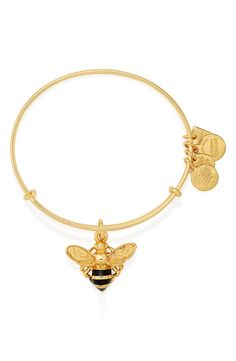 This trendy little charm bracelet in gold is the perfect accessory for the fashionable busy bee.