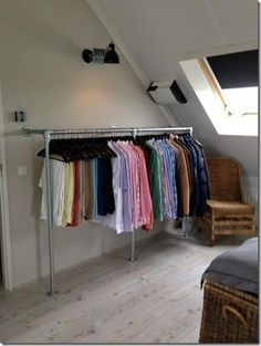 6 Creative Tips on How to Make a Small Bedroom Look Larger Uplifting Attic Remodel Loft Ideas Attic Bedroom Small, Attic Closet, Attic Bathroom, Attic Rooms, Attic Spaces, Room Closet, Entryway Closet, Attic Wardrobe, Garage Attic