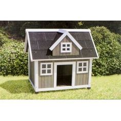 Attributes: Reliable Wood Development – Walnut Colored Stain on Solid Fir Wood-Raised Floor to Maintain Your Pet Dry – Asphalt Shingle Roof-Assembles in Four Simple Actions-Peak-roof Layout-Waterproof Leg Protectors. Colonial, Wood Dog House, Asphalt Roof Shingles, House Made, Building Materials, Solid Wood, Shed, Outdoor Structures, Pets