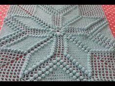 Popcorn yıldız motif yapılışı - 10. bölüm - YouTube Crochet Bedspread Pattern, Crochet Cushions, Crochet Pillow, Crochet Blanket Patterns, Baby Blanket Crochet, Freeform Crochet, Crochet Diagram, Crochet Motif, Crochet Blocks