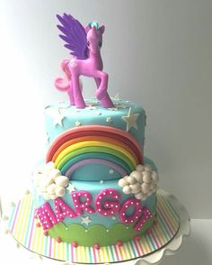 Little Pony cake....love the colors and the fondant used for her name