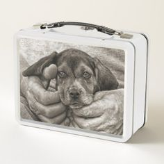 My Buddy Beagle Puppy Photographic Art Metal Lunch Box - dog puppy dogs doggy pup hound love pet best friend