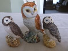 3 Beswick owls. 1 large 2 small in Pottery, Porcelain & Glass, Pottery, Beswick | eBay