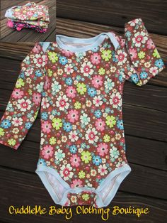 Baby and Toddler Bodysuit  Onesie sizes NB by CuddleMeBabyClothing