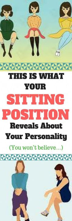This Is What Your Sitting Position Reveals About Your Personality - Tips for Healthy Wellness Tips, Health And Wellness, Health And Beauty, Health Fitness, Women's Health, Fitness Tips, Health Care, Fitness Plan, Sitting Positions