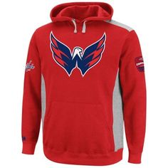Majestic Washington Capitals Hat Trick Pullover Hoodie - Red Ash f31ca7484