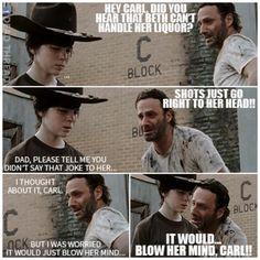 walking dad jokes,Rick Grimes,beth greene BAHAHAHAHA!!!!!!!!!!!!!!