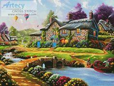 Dreamscape - cross stitch pattern designed by Tereena Clarke. Category: Scenery.