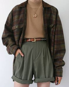 i wanna see if i can find these bc this outfit is cute Indie Outfits, Retro Outfits, Cute Casual Outfits, Fall Outfits, Vintage Outfits, Grunge Outfits, Boyish Outfits, Indie Clothes, Flannel Outfits