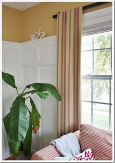 How to fake window treatments