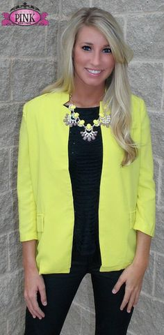 Steal The Scene Neon Blazer $42.00