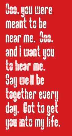 Beatles - Got To Get You Into My Life - song lyrics, songs, music lyrics, song quotes, music quotes