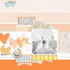 #papercraft #scrapbook #layout.   Carrie Arick | Get It Scrapped